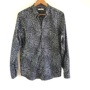 Jack & Jones black and white patterned button down